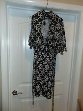LOT (2) Mud Pie Womens Dress Black & White Sleeveless With Matching Scarf NICE