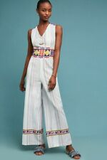 6a85377fe31e NWT Anthropologie LAIA Multi Colored Glory Embroidered One Piece Pant  Jumpsuit L
