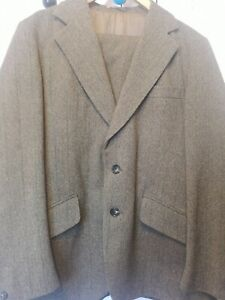 """40"""" MENS SHOOTING SUIT WITH BREEKS RAT CATCHER VINTAGE GUARDS 2 PLY THORN PROOF"""