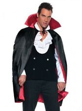 """38"""" Deluxe Reversible Satin Cape Red Lining Adult  Halloween Costume Accessory"""