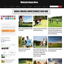 GOLF STORE - Professionally Designed Affiliate Website For Sale + Domain!