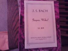 Bach, ed Prout: Sleepers Awake, Cantata,  BWV 140, vocal score (Gray)