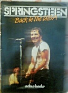 Bruce Springsteen book Back in The USA.1984 release.Photos mostly some infor