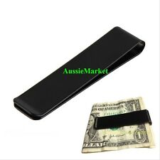 1 x money clip note card holder stainless steel mens wallet black long new purse