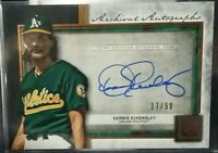 2020 Topps Museum Collection Dennis Eckersley Archival Autographs Auto 17/50