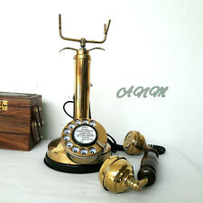 Royal Retro Design Telephone Rotary Dial Candlestick Collectible Home Decorative