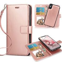 Magnetic Removable Leather Card Slot Wallet Case Cover for iPhone 7 8/8Plus