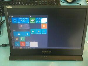 "Lenovo ThinkVision LT1421WD 1452-DM6 14"" Portable USB LED LCD Monitor Display"
