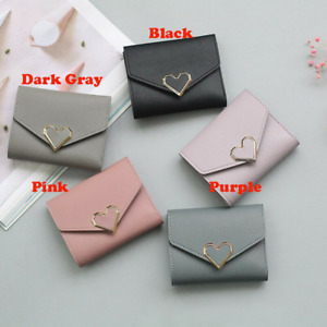 Small Mini Compact Wallet Trifold Credit Card Holder Pocket Purse for Women