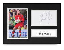 John Ruddy Signed A4 Photo Display Norwich City Autograph Memorabilia COA