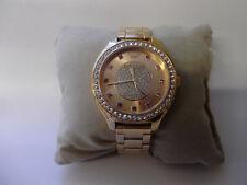 Juicy Couture ladies rose gold tone quartz bracelet watch with diamantes 16.5cm