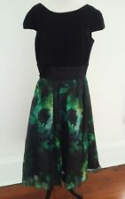 Theia Black and Green Dress Size 12