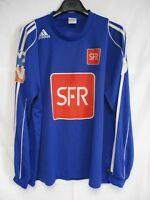 Maillot COUPE DE FRANCE porté n°14 bleu SFR vintage ADIDAS manches longues XL