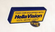 INSIDE Sticker: This Car Equipped with HELLA VISION - Head Lights, Fog Light