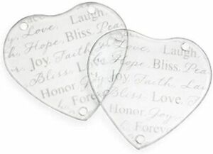 30 HEART GLASS COASTERS WEDDING DAY TABLE DECOR FAVOURS LOW PRICE
