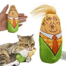 Funny Stuffed Plush Corn Cat Kitten Squeaky Pet Interactive Catnip Teaser Toy