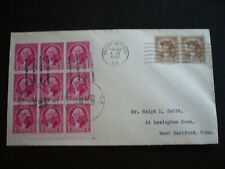 Stamps - USA - Postal History - Scott# 709 & 706 on Cover