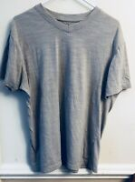 Beverly Hills Polo Club Mens Gray Short Sleeve Blue Pocket T-shirt, Size Large