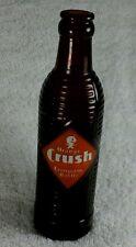 "Vintage Brown Glass Orange Crush Soda Bottle 7 3/4"" H x 2 1/4"" W"