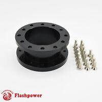 """1.5"""" Steering Wheel Spacer Black Aluminum for MOMO NARDI ISOTTA SPARCO OMP"""