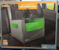 Kurgo Skybox Rear Dog Booster Seat for Cars with Seat Belt Tether, Grass Green