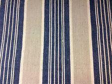 Carleton V Jute Linen Stripe Upholstery Fabric- Pemaquid/Blue Stone - 2.50 yds.