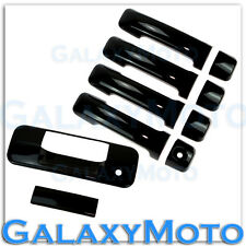07-13 TOYOTA TUNDRA CREWMAX Gloss Black 4 Door Handle+Tailgate w/Keyhole Cover