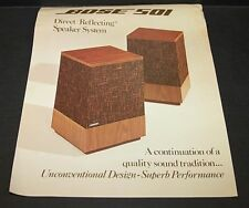 1975 Bose 501 Speaker Brochure  2 Pages 106477 Dated 2/75
