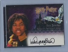 Harry Potter Sorcerers Stone Luke Youngblood As Lee Jordan Autograph Card