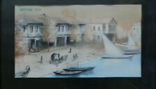 Old Batumi Seafront Watercolor G.GORGILADZE 19X34 cm