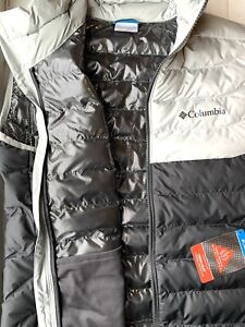 Columbia Mens White Out 🔥Omni-heat🔥Puffer Vest (Size M)