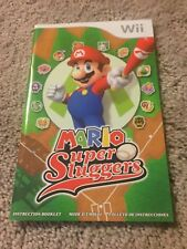 (NO GAME) MARIO SUPER SLUGGERS - Wii - GAME MANUAL ONLY