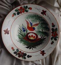ANTIQUE 1890 STAMP Hungary Porcelain China Handpainted Village Flower Bird Nest