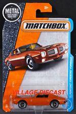 2017 Matchbox #25 '71 Pontiac® Firebird® Formula CANYON COPPER / MOC