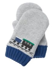 GYMBOREE ARCTIC EXPLORER GRAY w/ TRAIN SWEATER MITTENS 12 24 2 3 4T 5T NWT