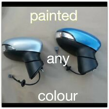 Ford fiesta Mk7 Wing Door Electric Mirror With Cover L/H Side Painted 08-12