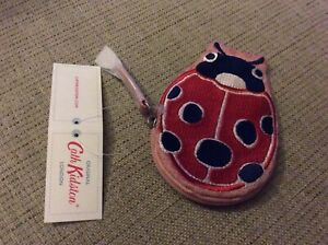 BNWT New Cath Kidston Ladybird Zip Purse - Cotton Embroidered - Magical Memories