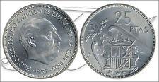 España - Monedas Franco circulación- Año: 1965 - numero 00329 - S/C- 25 pta 1957