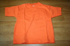 Tee shirt orange 3 ans coton