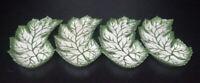 4 Beto Portugal Majolica Side or Bone Plates--Green Leaf or Lettuce Plates