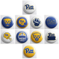 "PITTSBURGH PANTHERS – PITT college pinback buttons – 1"" sports team pin badges"