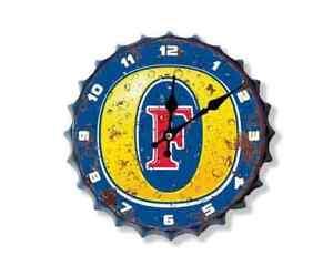 Fosters 30cm Diameter Bottle Top Sign Clock