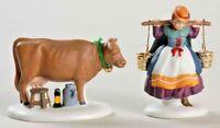 Dept 56 VIII 8 Maids Milking 12 Days of Dickens Village Heritage Christmas Serie
