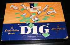 1940 DIG Gold Mining Lively Action Game Set by Parker Brothers