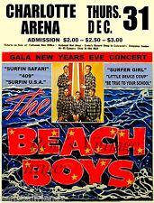 Beach Boys Rock Concert 1963 Advertising Poster Vintage  Charlotte NC 8X11