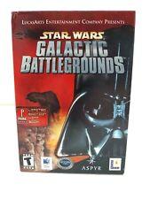 New Star Wars Galactic Battlegrounds BIG BOX Game (Mac) Box Open sealed Game