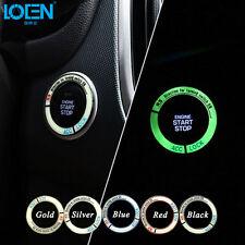 AUTO DECORATIVE ACCESSORIES Car BUTTON START Switch Fluorescence Ring
