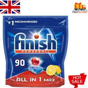 All-in-One Max Dishwasher Tablets,LEMON wirh Powerful formula Finish,90 Tablets