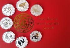 7 x 1 OZ LUNAR SAMMLUNG SILBER MÜNZEN PRIVY LION MARK Silver Coin + BOX,