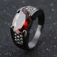 Black Zircon Dragon Titanium Stainless Steel Men's Wedding Band Rings